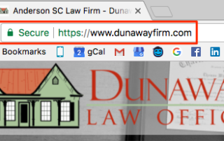 Law Firm Website SSL Security Warning